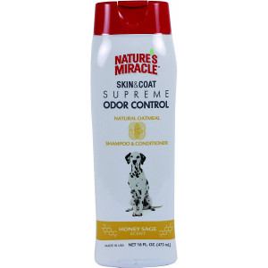 Nature's Miracle Supreme Odor Control Natural Oatmeal Shampoo and Conditioner - Honey Sage Scent - 32 oz