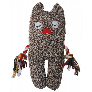 Patchwork Pet Freckles Greybar 13-Inch Plush Dog Toy
