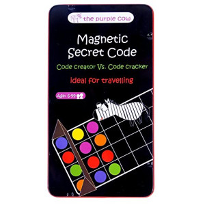The Purple Cow Magnetic Secret Code Board Game for Kids. Crack The Secret Code. Travel Size