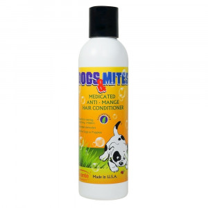 Dogs n Mites Medicated Anti Demodex Hair Conditioner with Tea tree oil, Neem and Lemon Grass 6.0 OZ (Concentrated)