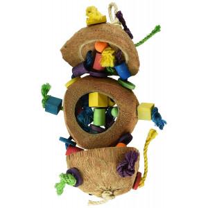 Penn Plax BA1870 Coconut Kabob with Wood and Sisal Pet Collar