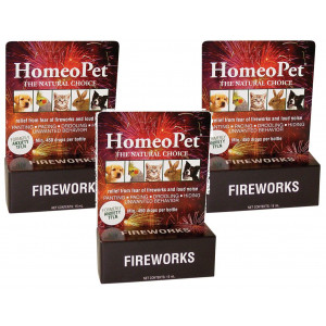 HomeoPet Anxiety TFLN Natural Homeopathic Remedy for Pets (Pack of 3)