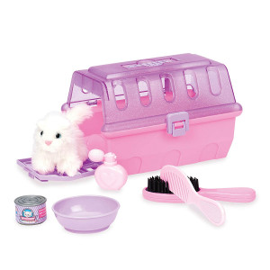 Play Circle by Battat  Cat Grooming Kit  7-piece Kids Pretend Play Cat Carrier and Grooming Set with Accessories  Toy Pet Care Set For Kids Age 2 Years and Up
