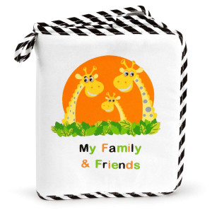 Baby's My Family and Friends First Photo Album - Cute Giraffe Family Theme!