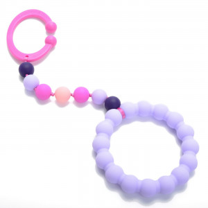 Chewbeads - Gramercy Baby Teething Car Seat Toy and Stroller Toy (Violet). 100% Safe Silicone Infant Teething Toy for Car Seats and Strollers. BPA-Free