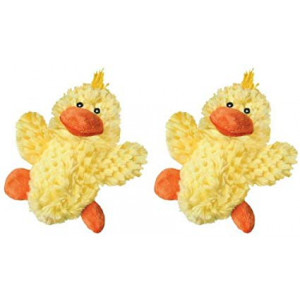 Kong Low Stuffing with Squaker dog Toy Small Color:Duck Size:Pack of 2