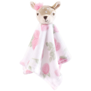 Hudson Baby Animal Friend Plushy Security Blanket, Fawn, One Size