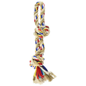 Kole KI-OF414 Colorful Knotted Pet Rope Toy with Handle, Large
