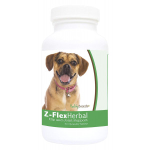 Healthy Breeds Z-Flex Herbal Hip and Joint Support - Over 200 Breeds - 60 Tasty Chewable Tablets