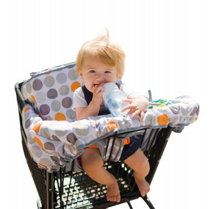 "Lumiere Baby Shopping Cart Cover for Baby - Universal Fit,""Roll-in"" Stylish Pouch, 360 Germ Protection"