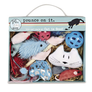 Cat Is Good 12-Piece Pounce Toy Gift Box  Pounce on It Assorted Toys Keep Cats and Kittens Entertained Safely