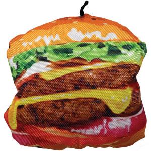 Scoochzilla Tough Burger Dog Toy 6-