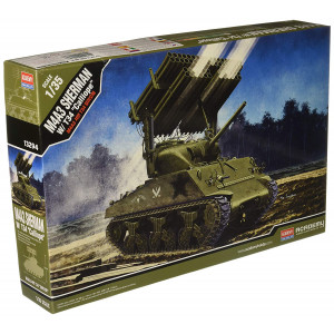 """Academy M4A3 Sherman with T34 """"Calliope"""" Model Kit"""