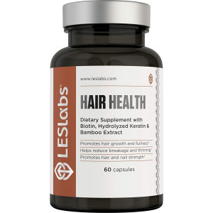 LES Labs Hair Health, Natural Supplement for Faster Hair Growth and Improved Strength and Fullness, 60 Capsules