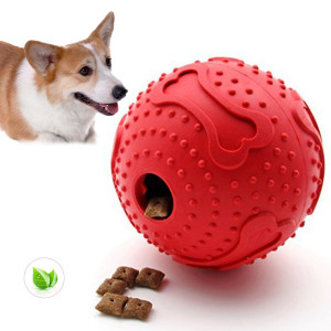 ThinkPet Rubber IQ Treat Ball Interactive Food Dispensing Dog Toy