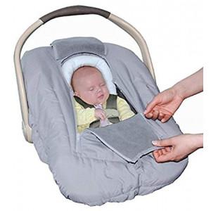 Jolly Jumper Sneak a Peek Sneak-a-Peek Infant Carseat Cover Deluxe Gray