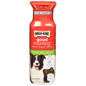 Milk-Bone Good Morning Total Wellness Daily Vitamin Dog Treats, 15 oz., Pack of 2