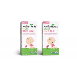 Wellements Baby Move for Constipation, 4 Fl Oz, 2 Count, Free From Dyes, Parabens, Alcohol, and Preservatives