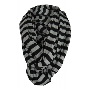 Multi-Use Baby Breastfeeding Infinity Nursing Cover/Nursing Scarf - Tykes and Tails Black/Gray Stripe Pattern - Many Colors and Patterns of Premium Breastfeeding Covers