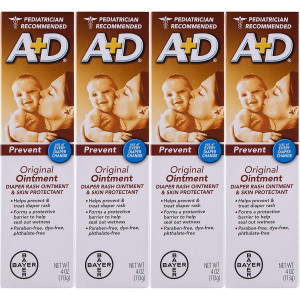 AandD Original Diaper Ointment, 4 Ounce (Pack of 4)