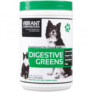 Vibrant Companions - Digestive Greens, Supports Digestion in Dogs and Cats, 7.51 oz