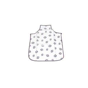 """Enrych Groomer's Apron for Pets, White/Grey, 33"""""""