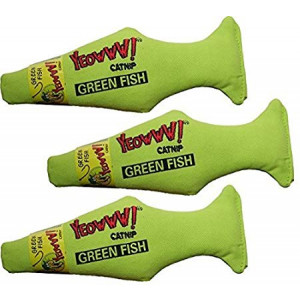 Yeowww! Green Fish (Pack of 3)