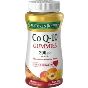 Nature's Bounty CoQ-10 Gummies 200 mg, Peach Mango Flavored 60 ea