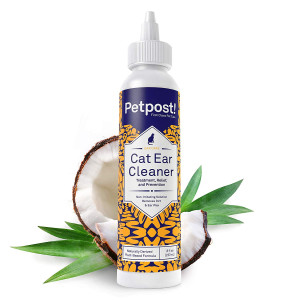 Petpost | Pet Ear Cleaner for Dogs and Cats - Natural Coconut Oil Solution for Dogs and Cats - Best Remedy for Ear Mites, Yeast and Ear Infection Causing Wax - Alcohol and Irritant Free - 8 Oz.