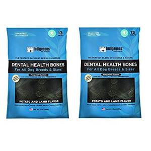 Indigenous Dental Health Bones, 17 oz. Potato and Lamb Flavor (2 Pack)