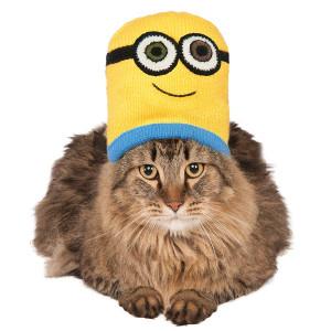Minion Bob Knit Cat Headpiece, NS