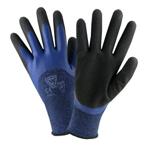 West Chester 713BLDD 2XL Double Dipped Glove, 2XL, Blue Black (Pack of 12)