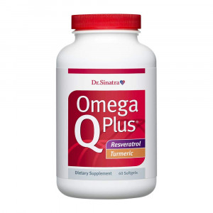 Dr. Sinatra's Omega Q Plus Resveratrol and Turmeric  Omega-3 Supplement with CoQ10 Support for Healthy Blood Flow, Blood Pressure, and Healthy Inflammatory Response with Resveratrol and Turmeric