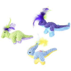 Pet Zone Dino-Friends Cat Toys (3 Pack)