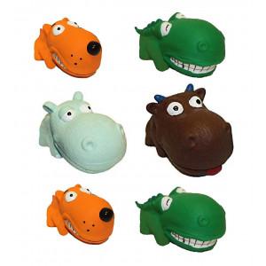 Multipet Mini Latex Animals Dog Toy Assorted Colors