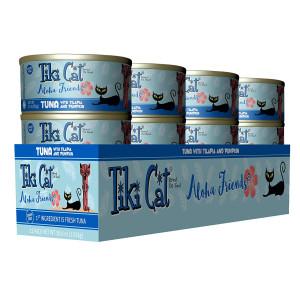 Tiki Cat Aloha Friends Canned Cat Food  Nutrient Rich Cat Food - 5.5 oz. (8 Pack) - Tuna, Tilapia and Pumpkin
