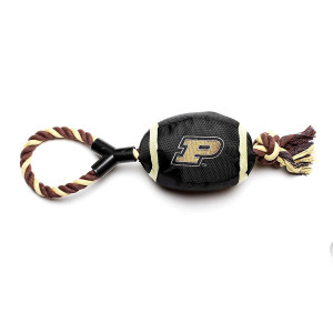 Pet Goods Purdue Boilermakers Football with Rope Toy