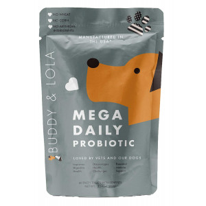 Buddy and Lola Probiotics for Dogs Chew Treats for All Breeds and Sizes - Natural Dog Probiotics Improve Digestion, Help The Immune System, Settle an Upset Stomach Made in USA