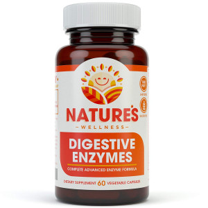Digestive Enzymes Complete - Advanced Multi Enzyme Supplement for Better Digestion and Absorption. Help Gas Relief, Discomfort, Bloating, IBS, Gluten and Lactose Intolerance