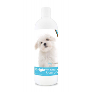 Healthy Breeds Bright Whitening Dog Shampoo for White and Lighter Fur - Over 150 Breeds - Pina Colada Scent - 12 oz