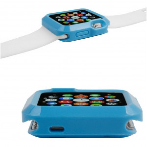 Josi Minea Apple Watch [38mm] Full Body Protective Shell Case Cover - Premium Anti-Scratch and Shockproof TPU Shield Guard for Apple Watch - 38mm [ Blue ]