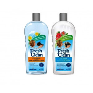 Fresh N Clean Itch Relief Shampoo and Conditioner Bundle: (1) Itch Relief Shampoo, and (1) Oatmeal Baking Soda Conditioner