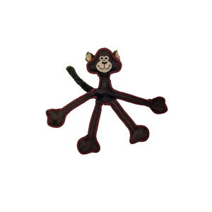 """Multipet 43323-1 Skele-Ropes Animals Toy, Monkey, 15"""", Brown"""
