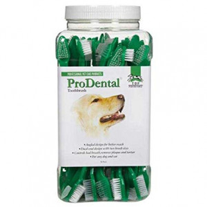 Top Performance ProDental Dual-End Toothbrushes - Convenient Toothbrushes for Cleaning Pets' Teeth, 50-Pack by Top Performance
