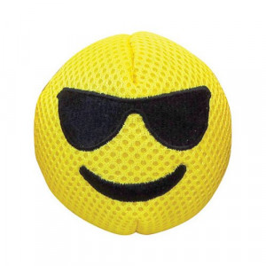 FOUFIT 85436 Cool Emoji Plush Dog Toy with Squeaker