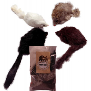 HDP Long haired Furry Mice cat toy