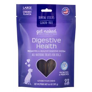 Get Naked Grain Free 1 Pouch 6.6 oz Digestive Health Dental Chew Sticks, Large