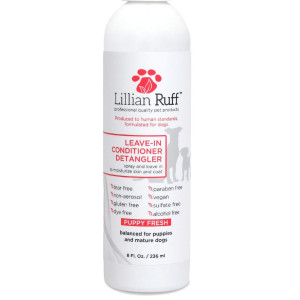 Lillian Ruff - Pet Dog Leave in Conditioner and Detangler Treatment Spray 8oz - Moisturizer for Normal, Dry and Sensitive Skin - Made in The USA