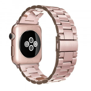 Simpeak Stainless Steel Band Strap Compatible Apple Watch 38mm 40mm Series 1 Series 2 Series 3 Apple Watch 4 - Rose Gold
