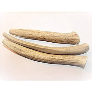 Antler Dog Treats Save Medium 3-Pack 5-7 in. Long, All-Natural Anti Anxiety Deer Antler Chews from Texas